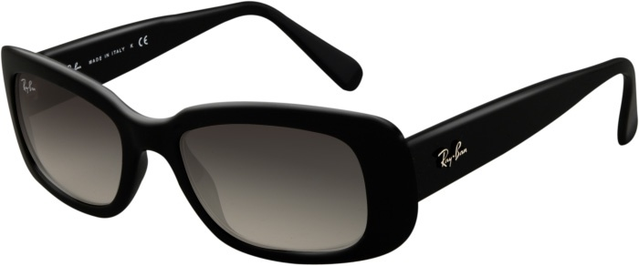 In the movie Die Another Day (2002), Miranda Frost (played by Rosamund Pike) wears a pair of black Ray-Ban RB4122 sunglasses.
