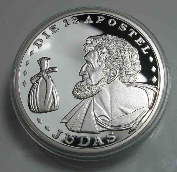 Medaille Die 12 Apostel - Judas- 1/2 Unze .925 Silber Polierte Platte /12