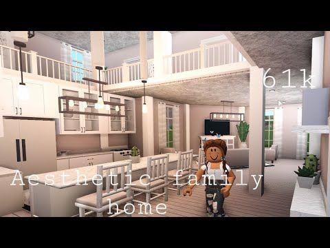 Bloxburg Aesthetic Family Home 61k House Build Youtube Bloxburg Home Home Building Design Roblox House Living room aesthetic bloxburg house