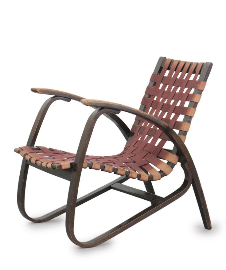 Jiri Vanek; Stained and Bent Beech Armchair for Uluv, c1949.