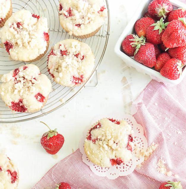 Rapide, facile et délicieux…le muffin aux fraises! #muffin #fraise #rapide…