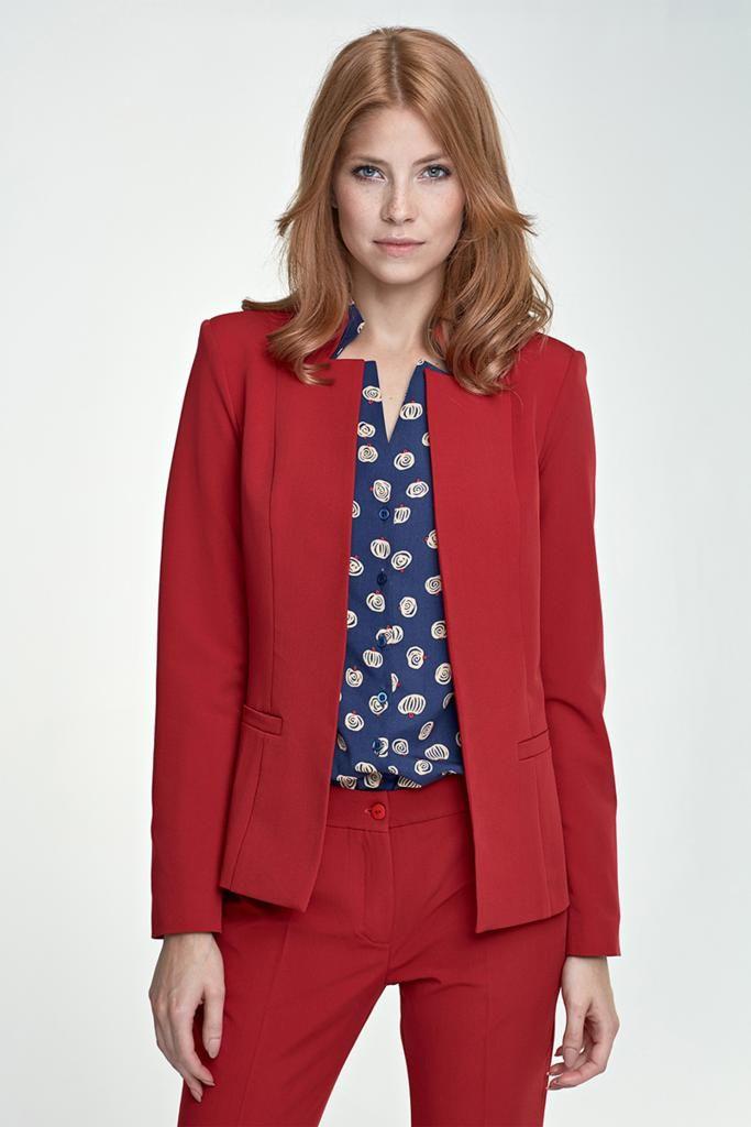 veste de tailleur femme rouge hiver