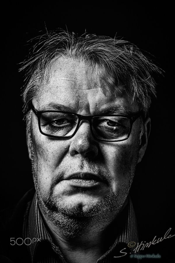 B&W portrtait Pekka - Black and white portraits of men who are living in a small village, Oravikoski, Eastern Finland. See my gallery 'Handsome Finnish men - Oravikosken komeat miehet'