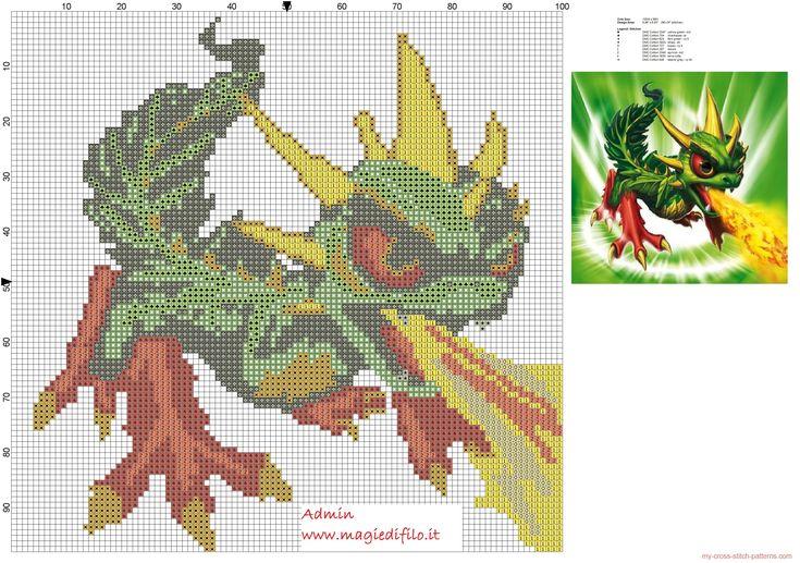 Camo Skylanders Giants cross stitch pattern