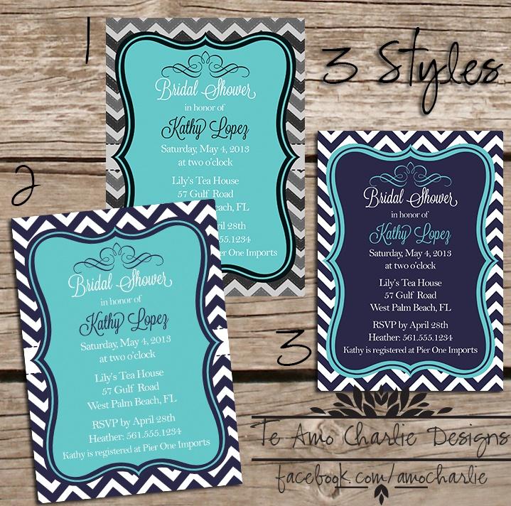 bridal shower invitations registry etiquette%0A Tiffany  u     Co inspired Bridal Shower Invitations by Te Amo Charlie