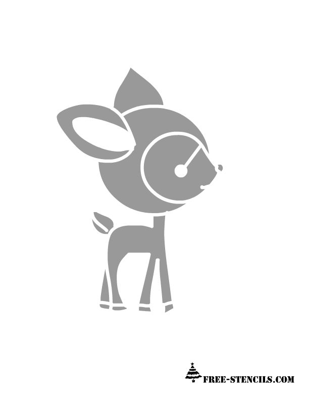 cute deer stencil printable