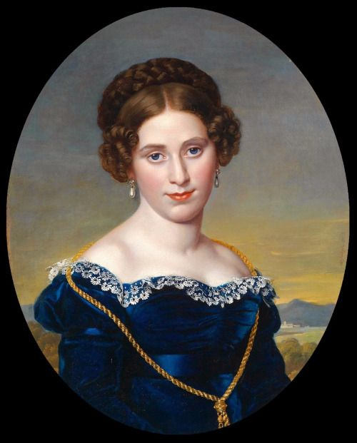 Portrait of a young woman, 1822, by Eduard Friedrich Leybold.