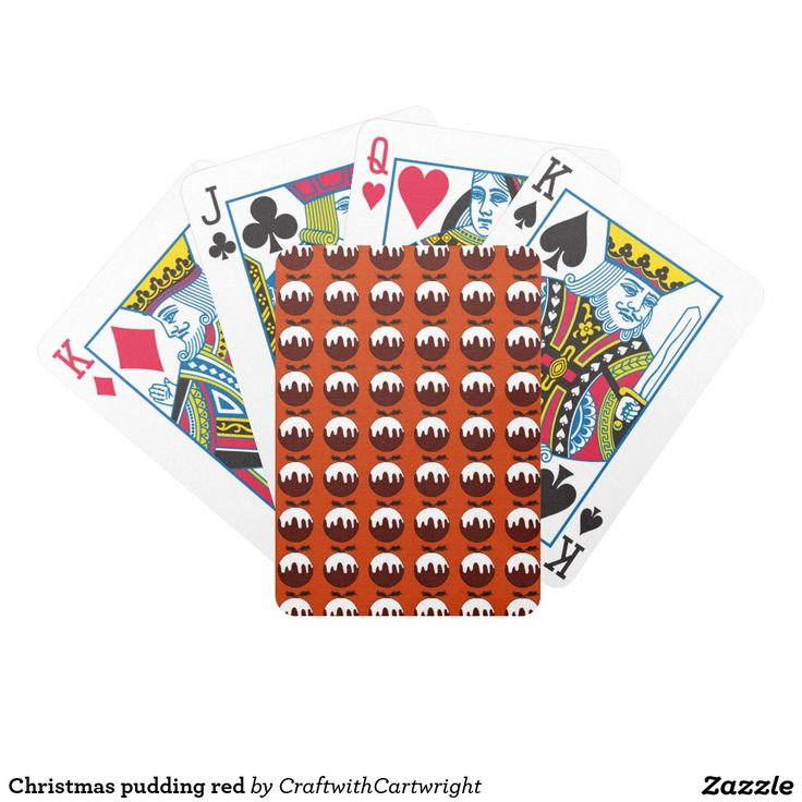 Christmas pudding red poker deck