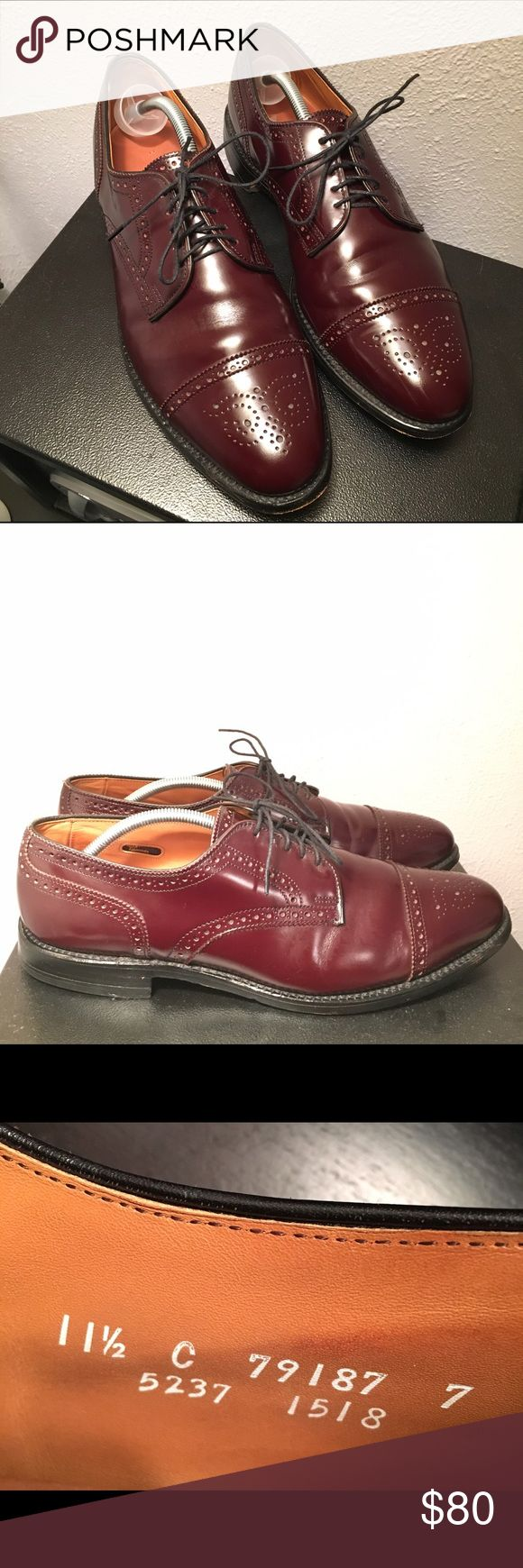 Allen Edmonds Sanford Burgundy Cap Toe Shoes Allen Edmonds Sanford Cap Toe lace up shoes. Burgundy color. Size 11.5 E. Allen Edmonds Shoes Oxfords & Derbys