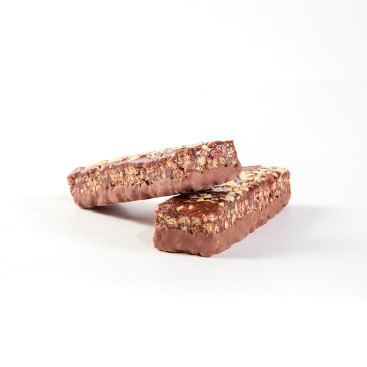 Barritas doble chocolate Vegefast, ricas en proteínas y fibra, reducidas en hidratos de carbono y grasas.