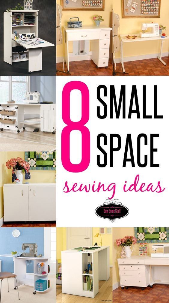 In this post I'm sharing some great ideas for small space sewing areas that would work best for creating a sewing space in places like bedrooms, living roo