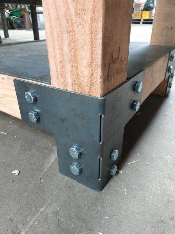 Set Of 8 For 4 X 4 Posts Heavy Duty Pergola Shop Table Deck Etsy Diy Table Legs Rustic Furniture Diy Heavy Duty Work Bench