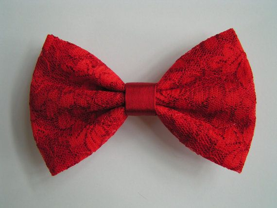 Hair Bow- Red Lace Hair Bow, hair bows,hairbows,bows for girls,women,lace bow,red bow,bows on Etsy, $3.99