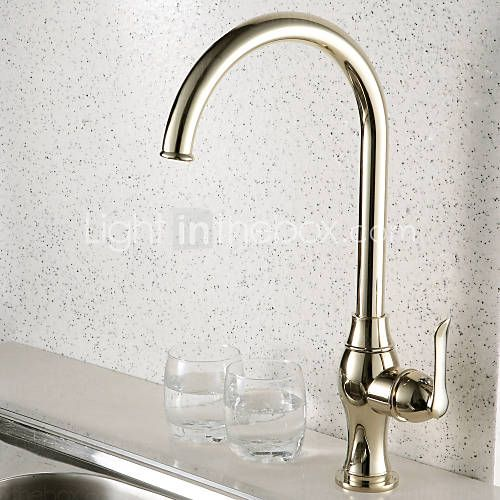 Antique Style Ti-PVD Finish Centerset Brass Kitchen Faucet 2015 – kr.741