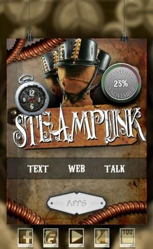 simple steampunk. 3 zooper widgets and vintage 37 icons. - walking*dead 's…