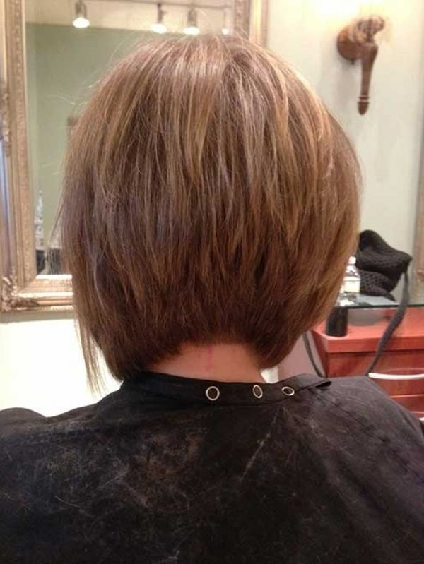 asymmetrical bob haircut back view For  Your hair is Convenient to
