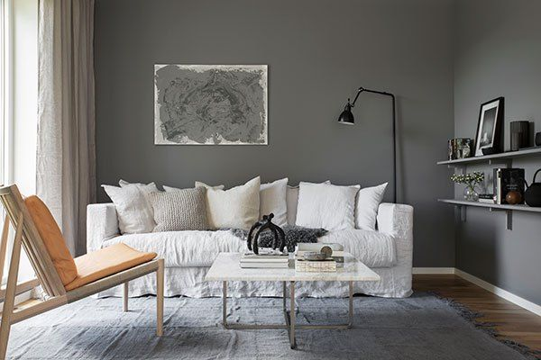 Home in blue and grey - via Coco Lapine Design