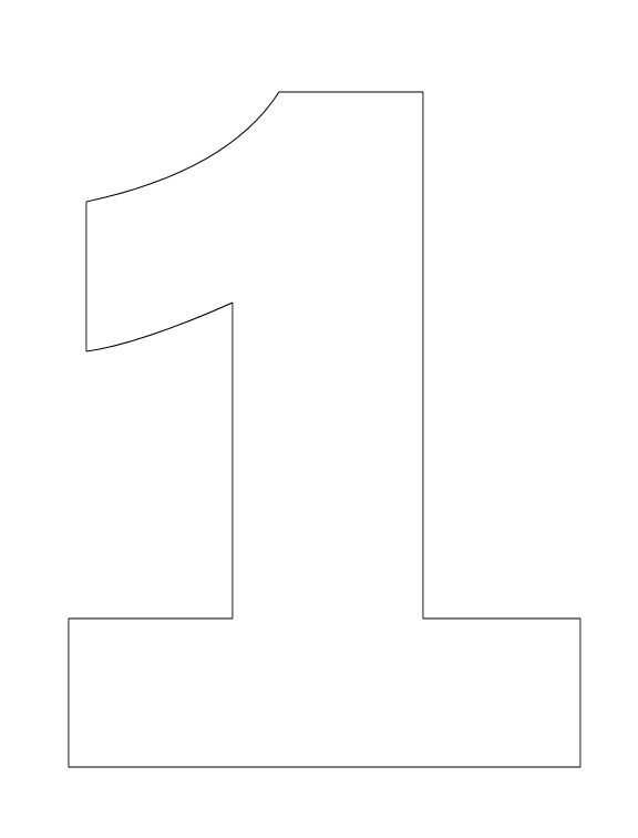 Number Pictures to Color: Number 1 Coloring Page