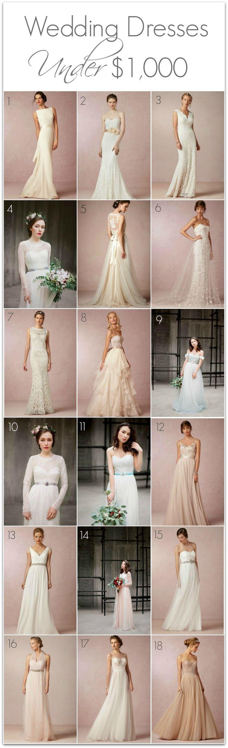 Wedding Dresses Under a thousand dollars.
