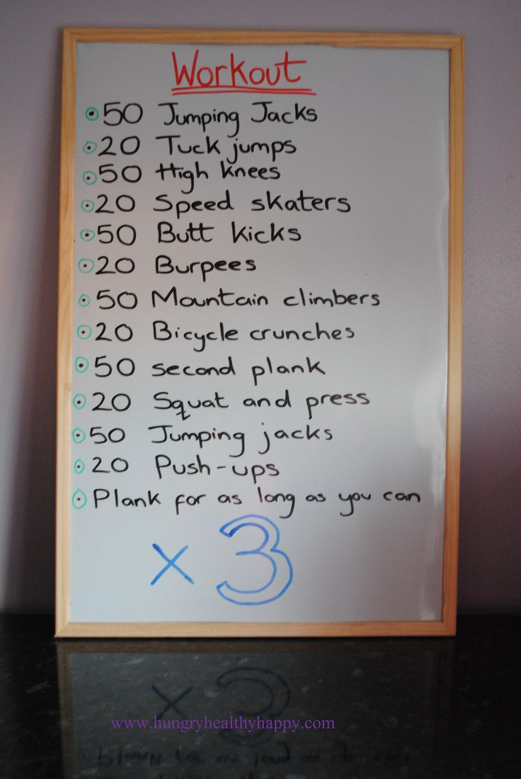 A 40 minute workout that you can do at home without any equipment.