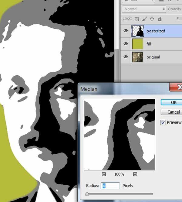 add a median filter