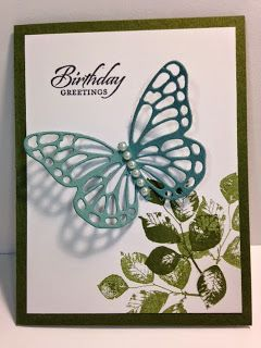 Kinda Eclectic, Butterfly Thinlits, Birthday Card, Stampin' Up!, Rubber Stamping, Handmade Cards