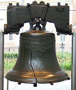 The Liberty Bell is an iconic symbol of American Independence, located in Philadelphia, Pennsylvania