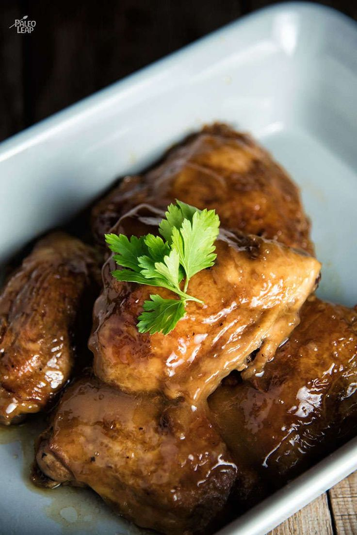 Apple Butter Chicken. An easy slow-cooker recipe for sweet chicken with just a hint of spice.