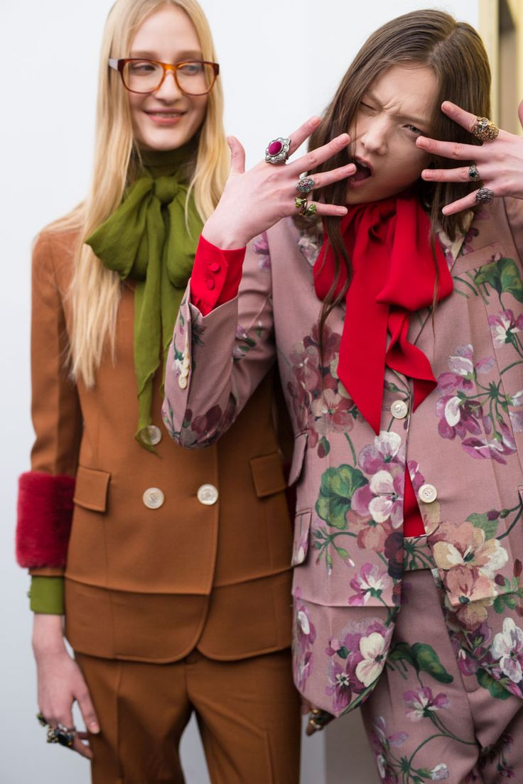 We're backstage at #Gucci's #AW15 #MFW show.