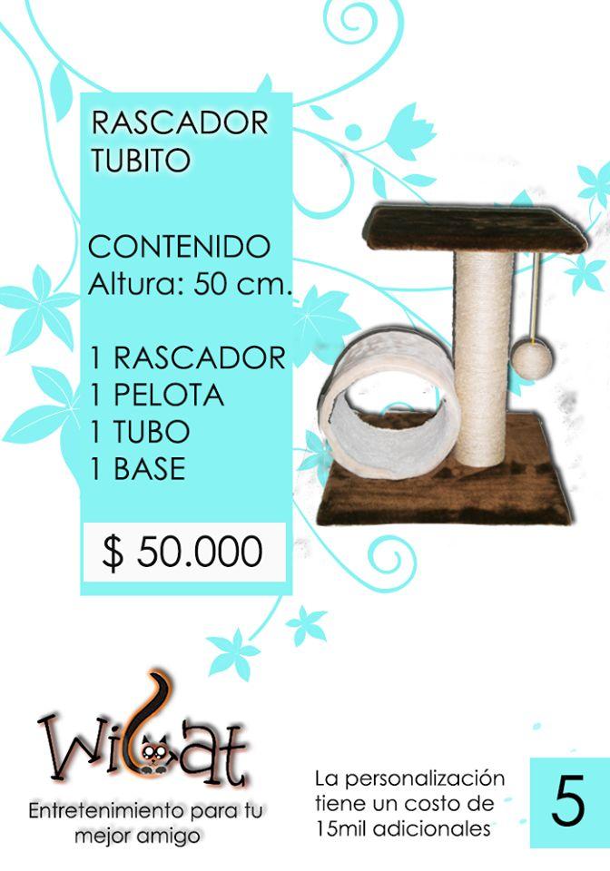 Rascador TUBITO Encuentra más información en nuestro web site: wicatcolombia.wix.com/wicat o en Facebook:  www.facebook.com/Wicat