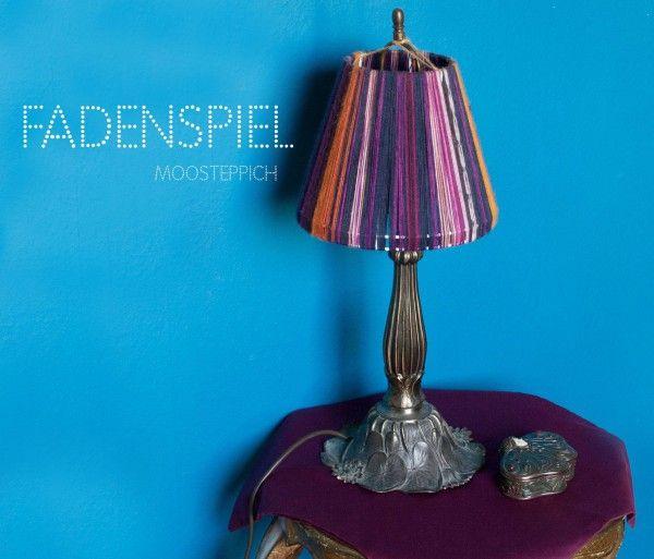 fadenspiel im jugendstil  ein lampenschirm  handmade