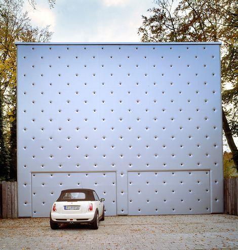 Polka Dot Garage / MVRDV {wouldn't it be fun to drive home to this!?}Garages Doors, Polka Dots, Mvrdv Architecture, Design Interiors, Barcode Villas, Barcode House, Mvrdv S Barcode, Lunatic Fringes, 04 Architecture