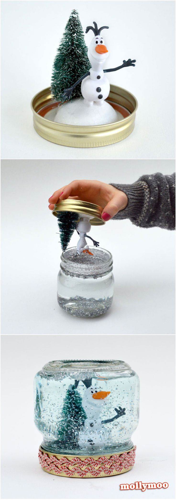 How to Make A Snow Globe - just 5 minutes from make to shake | MollyMoo with young kids...