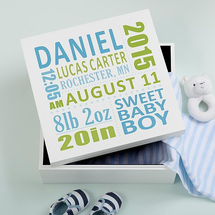 25 Best Ideas About Baby Memory Boxes On Pinterest