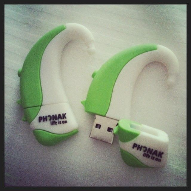USB stick in a hearing aid shape