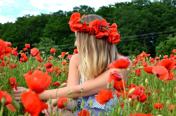 Sommerliches Mohnfeld - Jess en Vogue