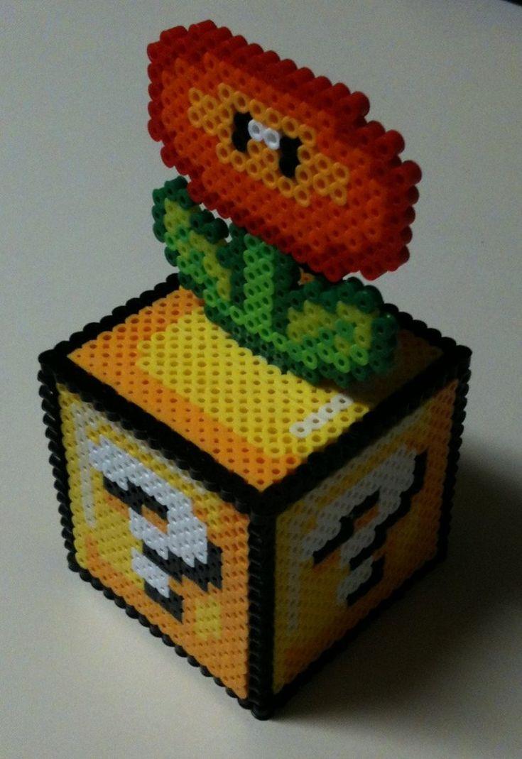 Mario Perler bead Fire Flower Block by ~Dlugo1975 on deviantART
