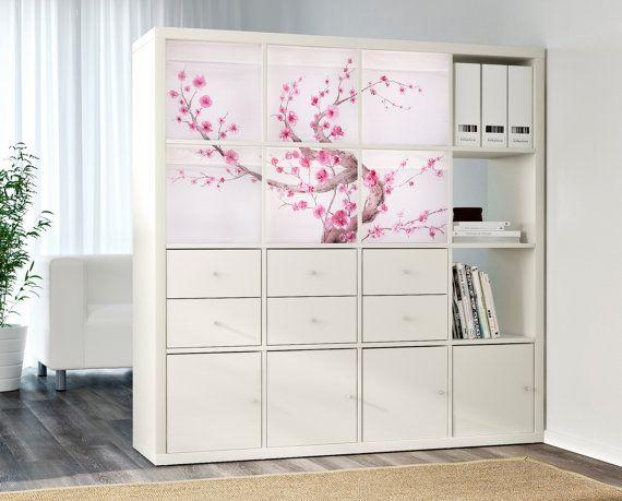 customized ikea drona storage boxes expedit kallax insert sakura tree ideen wohnen pinterest. Black Bedroom Furniture Sets. Home Design Ideas