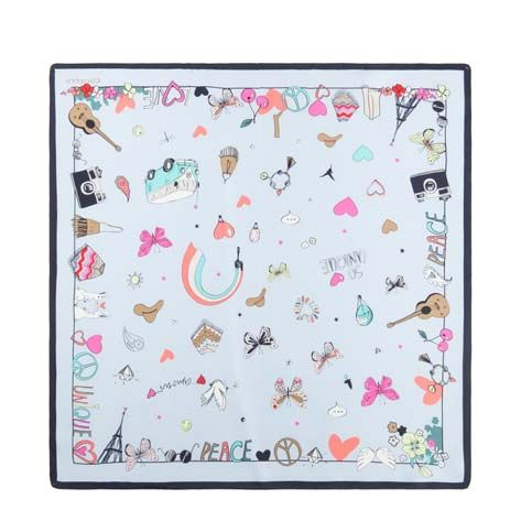 FOULARD FANTASIA PORTAFORTUNA LOVE PEACE CODELLO