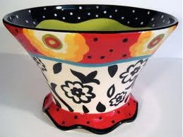 I like the shape of the bowl. I like how it starts small at the bottom and then gets wider as it goes up. I also really like all the colors together