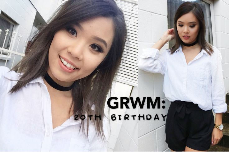 Watch me get ready for my 20th birthday! Video is now on my channel :) link is in the bio