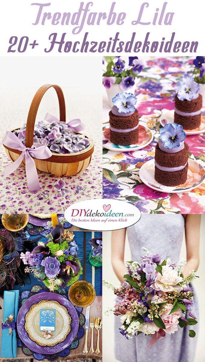 Bezaubernde Diy Hochzeitsdeko Ideen In Der Trendfarbe Lila Pinterest