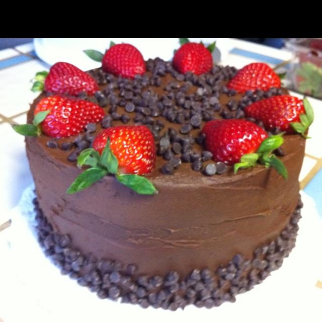 Chocolate chocolate cake.