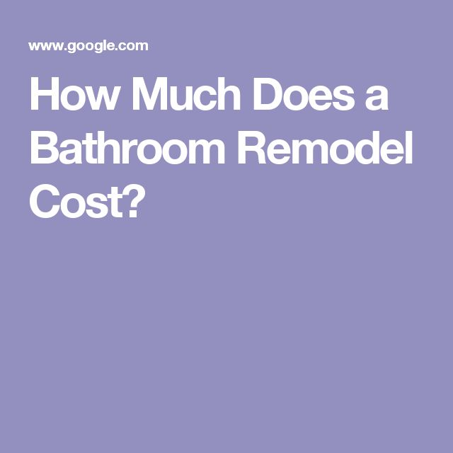 How Much For Bathroom Remodel Brilliant Review