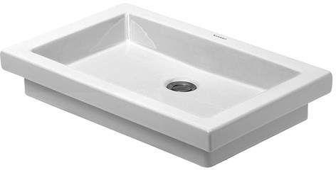 2nd Floor Ceramic Rectangular Drop-In Bathroom Sink