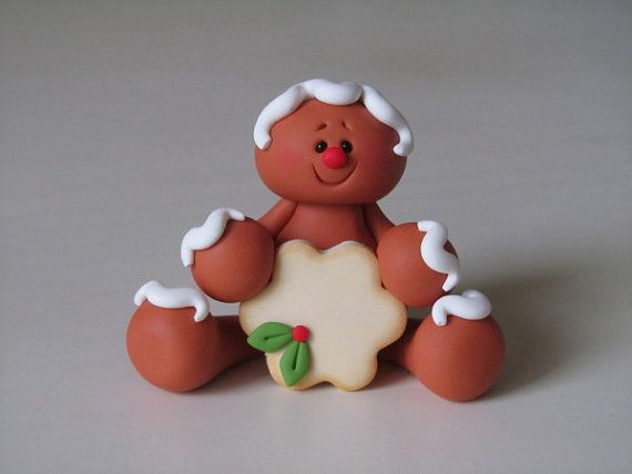 *POLYMER CLAY ~ Gingerbread with Cookie