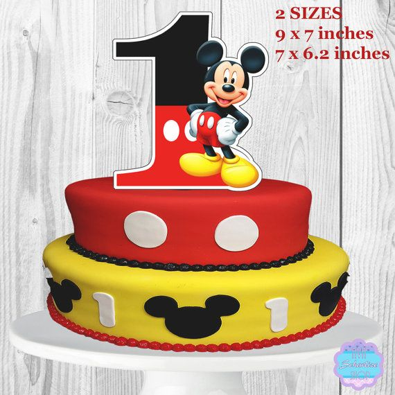 Mickey Mouse Cake Topper Centerpiece PRINTABLE You Print