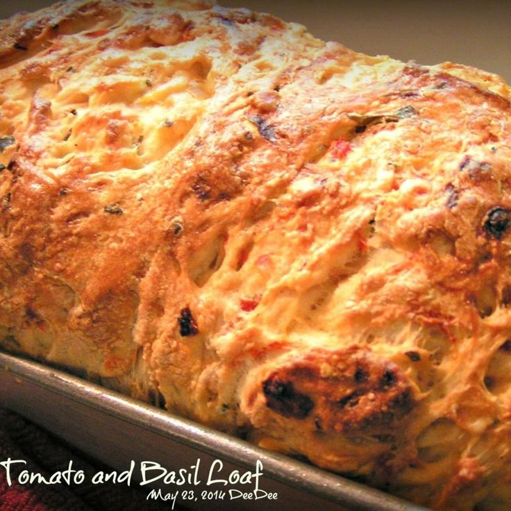 Fresh Tomato and Basil Loaf (Bread Machine)