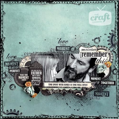 Scrapbook layout & topic treatment: Kaisercraft