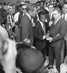 Marlon Brando With Charlton Heston, James Baldwin, Sidney Poitier and Harry Belafonte at the March on Washington in 1963